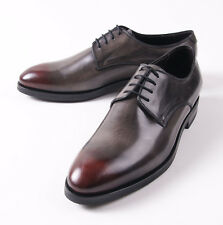 NIB $695 CANALI 1934 Antique Gray Burnished-Toe Derby US 10.5 D Shoes