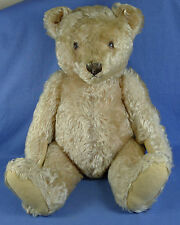 "Antique Blonde Mohair Steiff Teddy Bear 19.5"" Tall"