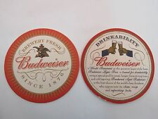 Beer Bar Coaster ~*~ Brewed Fresh: BUDWEISER Since 1876 Brewed for Drinkability