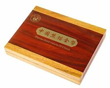 China Panda Münzbox / Box / Kassette Type-Set 1g - 3g - 8g - 15g - 30g Gold Holz