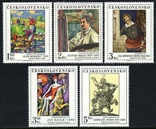 Czechoslovakia 2265-2269, MNH. Paintings by Moravec,Mally,Repin,Bauch,Durer,1979