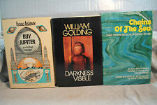 lot vtg old SCI FI DARKNESS VISIBLE CHAINS OF THE SEA BUY JUPITER MONKEY FINGER