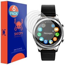Skinomi (MATTE) Screen Protectors for Samsung Gear S3 Classic (6-Pack)