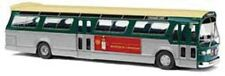 HO 1/87 Busch # 44507 GMC TDH-5301 Fishbowl Bus, Windsor Canadian - Green/Silver