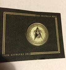 New 1993 Star Trek Franklin Mint Star Fleet Insignia Uncirculated Coin