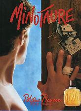 Publicité Advertising 1993 Parfum  MINOTAURE  pour homme Paloma Picasso