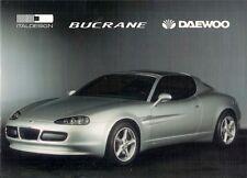 Daewoo Ital Design Bucrane Concept Car 1995 Bilingual Sales Brochure
