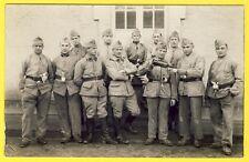 cpa CARTE PHOTO 102e Régiment Caserne Service Militaires Soldats Poilus Uniforme