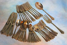 Wm. Rogers & Sons Royal Plume Gold Plated Flatware Lot of 53 - 2 Serving