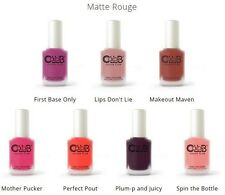 Color Club Lacquer Nail Polish Matte Rouge Collection Set Of 7
