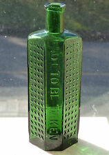 Rare emerald green coffin shaped 8oz POISON bottle BIMAL *FREE SHIPPING!