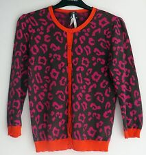 NEXT bright colours *Animal Print* retro and emo scene style cardigan