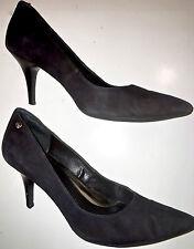 """Calvin Klein 3"""" High Heel Solid Blue Micro Suede Nadine Pumps US Size 9 Medium"""
