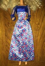 Barbie Blue Floral Daisy Outfit Dress Clothes Red White Ball Gown Outfit Clothes