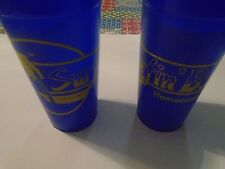 """Pair of Ball State University """"Surfin BSU"""" Homecoming 1985 Drinking Cups"""
