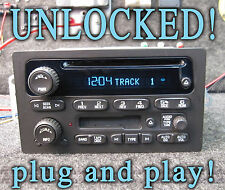 UNLOCKED 03 04 05 06 CHEVY SIERRA TAHOE YUKON SILVERADO RADIO CD CASSETTE Player