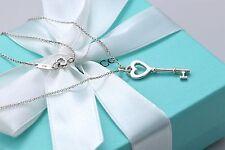 "Tiffany & Co. Mini 1"" Key Pendant Necklace 18"""