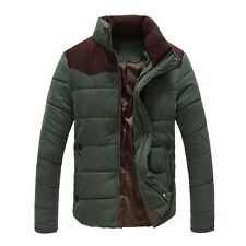 1Pc Warm Winter Mens Slim Casual Coat Jacket Cotton Stand Collar Coat Outwear