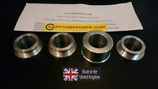 Kawasaki ZX6R ZX6 2000- 2002 Captive race wheel spacers. Full set.UK made.
