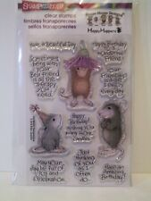 """New! HouseMouse """"Friend Wishes"""" Clear Stamps"""