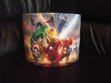 "LEGO MARVEL SUPERHEROES  b 10"" DRUM CEILING LAMPSHADE LIGHTSHADE"