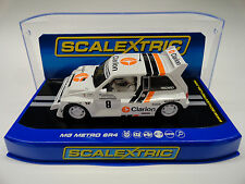 "Scalextric ""Clarion"" MG Metro 6R4 Lights DPR 1/32 Scale Slot Car C3306"