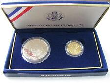 1987 US Constituion 2 Coin Set w/COA