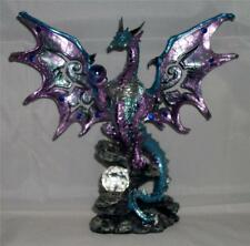 Nemesis Now BLUISH DRAGON ORB PROTECTOR & CRYSTAL Figurine Dragons Statue