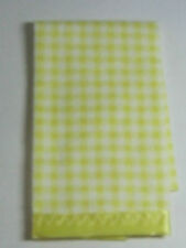 Dollhouse Miniature - Yellow Check Blanket for Dollhouse Bed