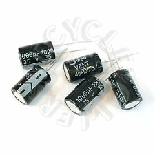 5 x 35V 1000uF Radial Lead Electrolytic Capacitor 13 x 21 mm