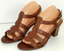 Womens Clarks Artisan Active Air Sandals Brown Stacked Heel 9.5 M