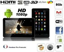 Tablette PC Ecran 9 Pouces Capacitif Andoid HDMI FULL HD 1080P WIFI 8Go