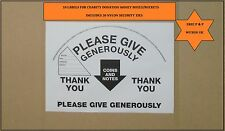 10 LABELS FOR CHARITY COLLECTION DONATION BUCKETS /BOXES