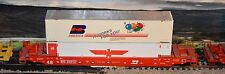 HO scale Athearn Burlington Northern 48' well car with containers load 1 of 2