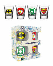 Official DC Comics - Logos - 4 Pack Of 2oz Shot Glasses