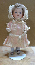 Vintage 8 inch Bisque German Doll with Sleepy Eyes