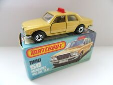 Matchbox Superfast 56d Mercedes 450sel TAXI - Mint/Boxed