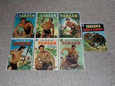 1950s Dell Tarzan Lot of 7 Low Grade Issues 25 26 27 34 42 62 & Jungle Annual 3