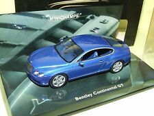 BENTLEY CONTINENTAL GT Bleu  MINICHAMPS 1:43
