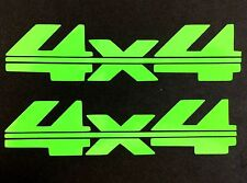 2 NEW LIME GREEN 4X4 4WD FORD CHEVY DODGE TOYOTA GMC DECAL STICKER LOGO EMBLEM
