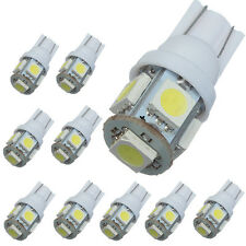 10x T10 501 W5W 5 SMD 5050 Xenon White LED Side Interior Number Wedge Light bulb