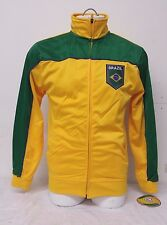 Brazil Men's Soccer Track Jacket Team Colors NWT Size Small