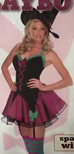PLAYBOY SPARKLE WITCH HALLOWEEN COSTUME SEXY LINGERIE ADULT WOMEN'S LARGE 14-16