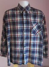 VTG Mens SOUTHWEST CASTLE Blue/Red Checked Thin Flannel Shirt Size Extra Large