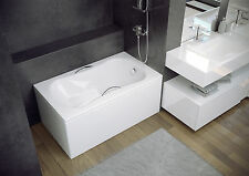 ARIA REHAB BATH WITH SEAT 120 X 70 SPACE SAVER, IDEAL FOR BOATS, LOFTS