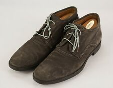 JOHN VARVATOS Collection Gray Waxed Canvas Lace-Up Low Demi Boots 8.5