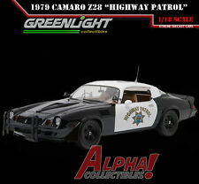 GREENLIGHT 12964 1:18 1979 CHEVROLET CAMARO Z/28 CALIFORNIA HIGHWAY PATROL CAR