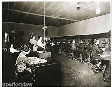 Telephone Switchboard Operators Old Time Telephone Wires Head Sets Women One Man