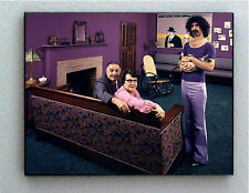 Rare Framed Frank Zappa Parents and cat 1970 Vintage Photo. Giclée Print