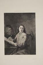 La Vue Cinq Sens Jeune Dessinateur gravure XIX L. Carred d'ap. D. Teniers